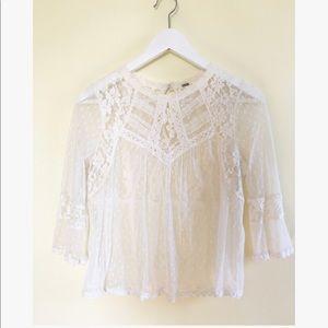Free people bohemian lace top